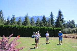 Participants on the green.